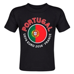 Portugal Euro 2016 Fashion Toddler T-Shirt (Black)