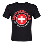 Switzerland Euro 2016 Fashion Toddler T-Shirt (Black)
