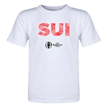 Switzerland Euro 2016 Elements Toddler T-Shirt (White)