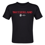 Switzerland Euro 2016 Core Toddler T-Shirt (Black)
