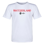 Switzerland Euro 2016 Core Toddler T-Shirt (White)