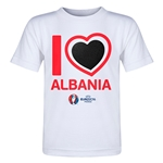 Albania Euro 2016 Heart Toddler T-Shirt (White)