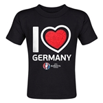 Germany Euro 2016 Heart Toddler T-Shirt (Black)