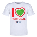 Portugal Euro 2016 Heart Toddler T-Shirt (White)