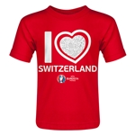 Switzerland Euro 2016 Heart Toddler T-Shirt (Red)
