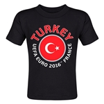 Turkey Euro 2016 Fashion Toddler T-Shirt (Black)