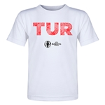 Turkey Euro 2016 Elements Toddler T-Shirt (White)