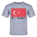 Turkey Euro 2016 Fashion Toddler T-Shirt (Grey)