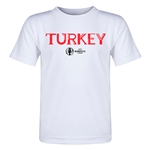 Turkey Euro 2016 Core Toddler T-Shirt (White)