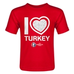 Turkey Euro 2016 Heart Toddler T-Shirt (Red)