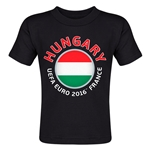 Hungary Euro 2016 Fashion Toddler T-Shirt (Black)
