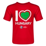 Hungary Euro 2016 Heart Toddler T-Shirt (Red)