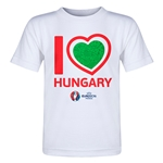Hungary Euro 2016 Heart Toddler T-Shirt (White)