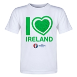 Ireland Euro 2016 Heart Toddler T-Shirt (White)