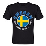 Sweden Euro 2016 Fashion Toddler T-Shirt (Black)