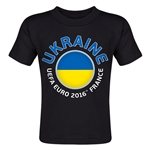 Ukraine Euro 2016 Fashion Toddler T-Shirt (Black)