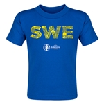 Sweden Euro 2016 Elements Toddler T-Shirt (Royal)