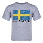 Sweden Euro 2016 Fashion Toddler T-Shirt (Grey)