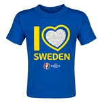 Sweden Euro 2016 Heart Toddler T-Shirt (Royal)