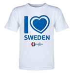 Sweden Euro 2016 Heart Toddler T-Shirt (White)