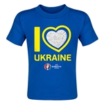 Ukraine Euro 2016 Heart Toddler T-Shirt (Royal)