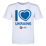 Ukraine Euro 2016 Heart Toddler T-Shirt (White)