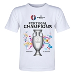 Portugal UEFA Euro 2016 Champions Toddler T-Shirt (White)