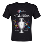 Portugal UEFA Euro 2016 Champions Toddler T-Shirt (Black)