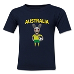 Australia Animal Mascot Toddler T-Shirt (Navy)