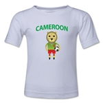 Cameroon Animal Mascot Toddler T-Shirt (White)