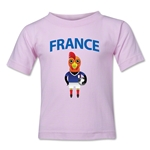 France Animal Mascot Toddler T-Shirt (Pink)