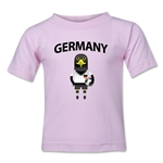 Germany Animal Mascot Toddler T-Shirt (Pink)