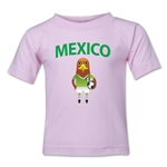 Mexico Animal Mascot Toddler T-Shirt (Pink)