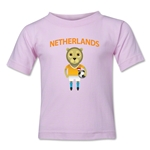 Netherlands Animal Mascot Toddler T-Shirt (Pink)