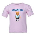 Argentina Animal Mascot Toddler T-Shirt (Pink)