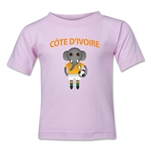 Cote d'Ivoire Animal Mascot Toddler T-Shirt (Pink)