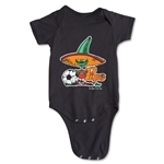 1986 FIFA World Cup Pique Mascot Logo Onesie (Black)