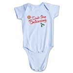 FC Santa Claus Don't Stop Believing Infant Onesie (Sky)