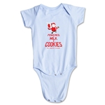 FC Santa Claus Milk and Cookies Infant Onesie (Sky)