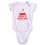 FC Santa Claus Kick with St. Nick Infant Onesie (Pink)