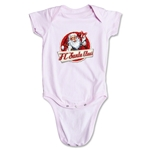 FC Santa Claus Animated Santa Infant Onesie (Pink)