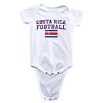 Costa Rica Football Onesie (White)