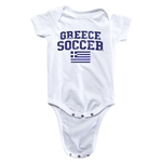 Greece Soccer Onesie (White)