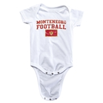 Montenegro Football Onesie (White)