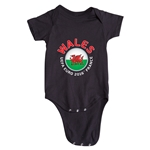 Wales Euro 2016 Fashion Onesie (Black)