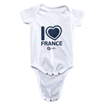 France Euro 2016 Heart Onesie (White)