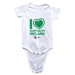 Northern Ireland Euro 2016 Heart Onesie (White)