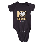 Spain Euro 2016 Heart Onesie (Black)