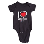 Germany Euro 2016 Heart Onesie (Black)