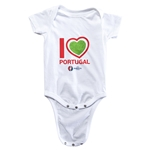 Portugal Euro 2016 Heart Onesie (White)